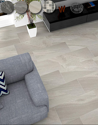 Arkon Grey Mixed Stone Effect Porcelain