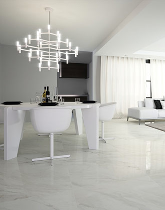 Calacatta White Marble Effect Porcelain Tiles