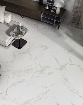 Calacatta Gold Marble Effect Porcelain Floor Tile