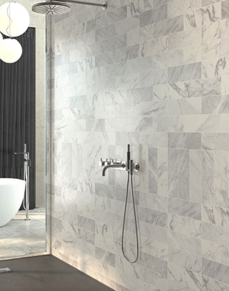 Carrara Matt White Marble Effect