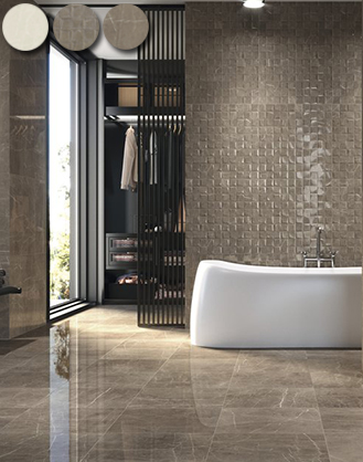 Dallas Brown Gloss Marble Effect