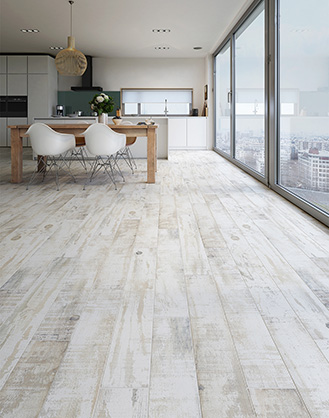 Driftwood Effect Rustic White Porcelain Floor Tile