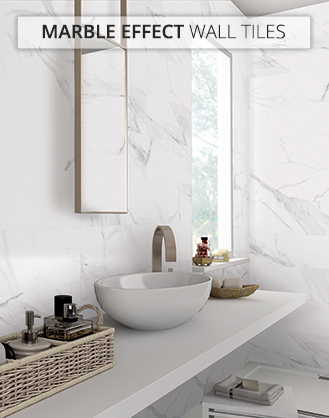 Marble Effect Bathroom Tiles