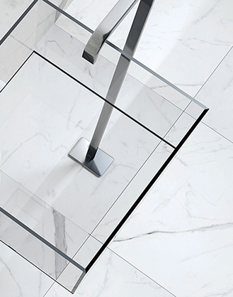 Polished White Marble Effect
