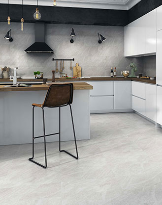 Replica Grey Travertine Effect Porcelain