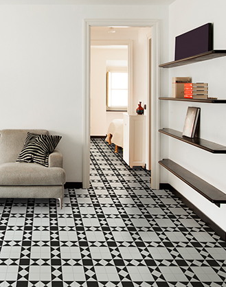 Victorian Black And White Floor