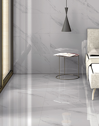White Gloss Marble Effect Porcelain