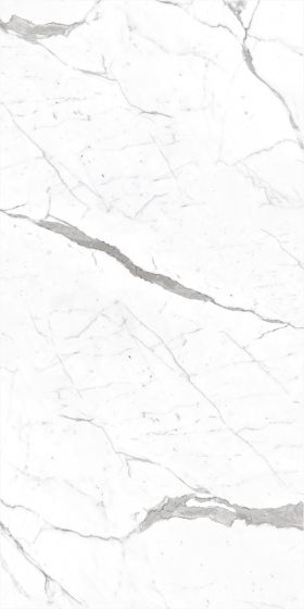 Carrara White Marble Effect Polished Porcelain Tile 1200 x 600mm