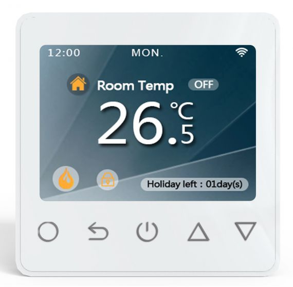 Wifi Electric Underfloor Heating Thermostat (White)
