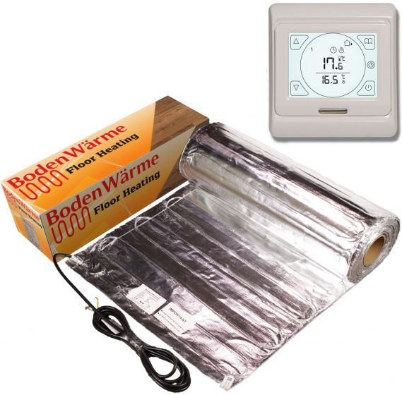 Underfloor Heating Kit for Laminate +Touch Screen Thermostat