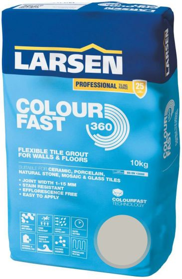 Colour Fast 360 Flexible Wall & Floor Grout Silver Grey 10kg