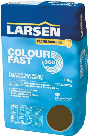 Colour Fast 360 Flexible Wall & Floor Grout Walnut 10kg