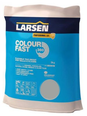 Colour Fast 360 Flexible Wall & Floor Grout Grey 3kg