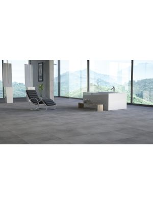 Lappato 800x800mm Dark Grey Porcelain Floor Tile