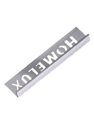 Tile Trim Stainless Steel Effect 10mm Straight Edge Aluminium Homelux 1.2m
