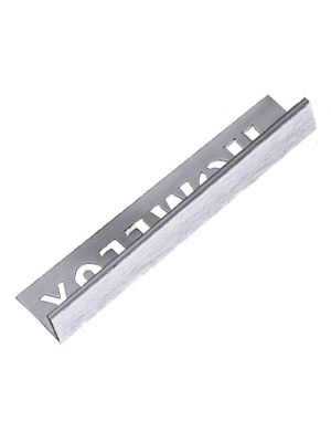Tile Trim Stainless Steel Effect 12.5mm Straight Edge Aluminium Homelux 1.2m