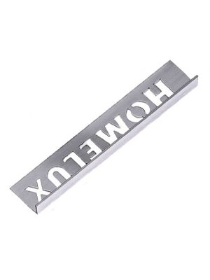 Tile Trim Stainless Steel Effect 8mm Straight Edge Aluminium Homelux 1.2m