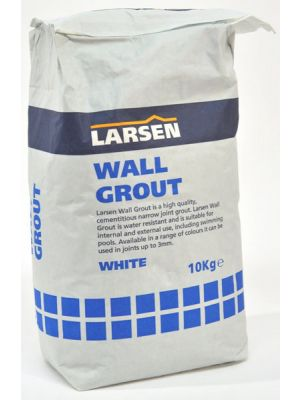 Trade White Wall Tile Grout 10kg