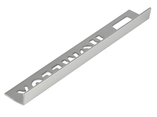 Tile Trim Silver Effect 8mm Straight Edge Aluminium Homelux 1.2m