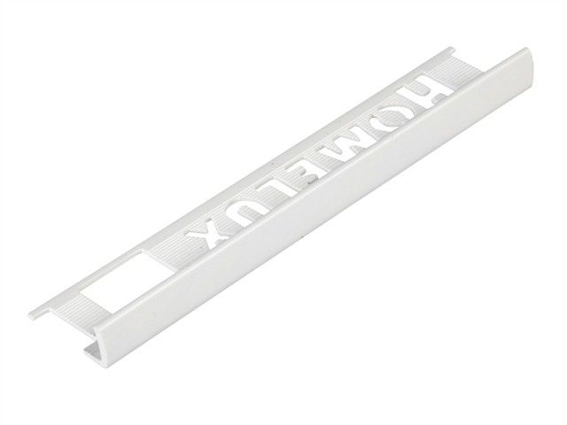 Tile Trim White 8mm Straight Edge PVC Homelux 1.2m