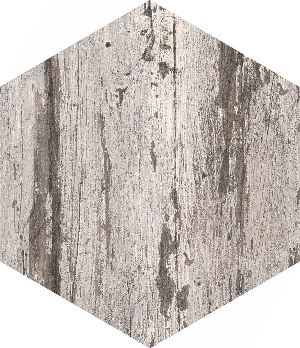 Hexag Wood Effect Porcelain Wall And Floor Tile