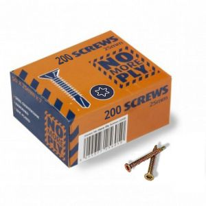 25mm No More Ply Screws Box 200