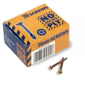 No More Ply 38mm Screws Pack Of 200