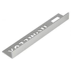 Tile Trim Silver Effect 10mm Straight Edge Aluminium Homelux 1.2m