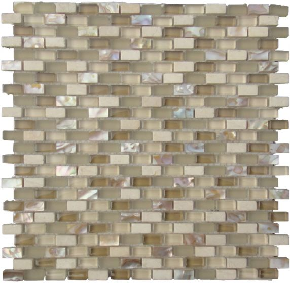 Mosaic Tile Mini Brick | Mother of Pearl Sand Mix