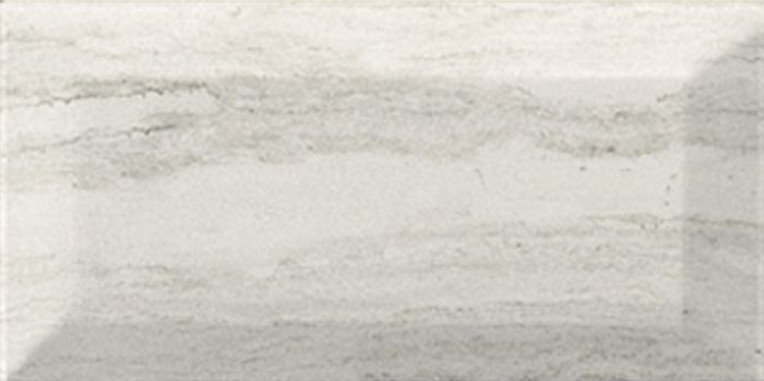 Metro Grey Travertine Effect Bevelled Wall Tile