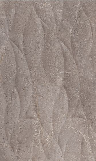 Marble Effect Matt Grey Wave Decor Tile