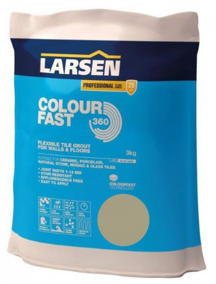 Colour Fast 360 Flexible Wall & Floor Grout Limestone 3kg