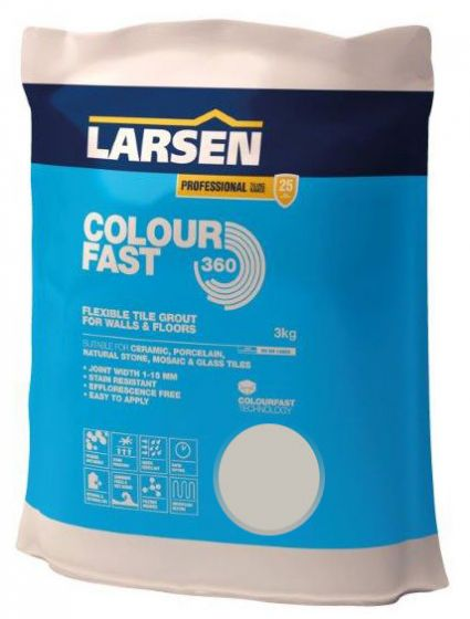 Colour Fast 360 Flexible Wall & Floor Grout Silver Grey 3kg