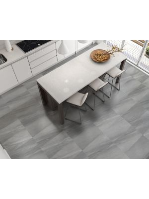 Lightweight Baltic Anthracite Stone Effect Porcelain Floor And Wall Tile