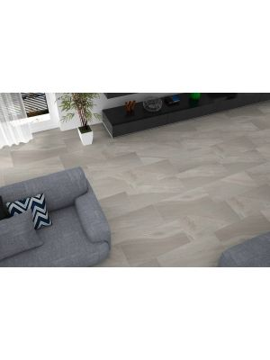 Arkon Light Grey Mixed Stone Effect Porcelain Wall & Floor Tile