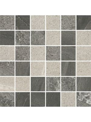 Arkon Mixed Grey Stone Effect Porcelain Mosaic