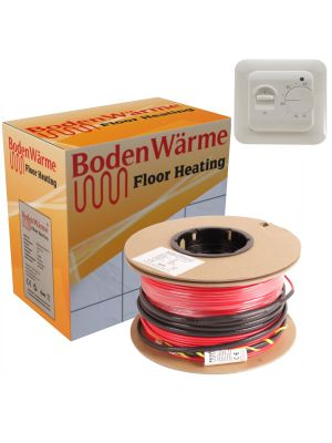 Electric Underfloor Heating Cable + Manual Thermostat