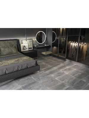 Brasília Grey Slate Effect Porcelain Wall And Floor Tile