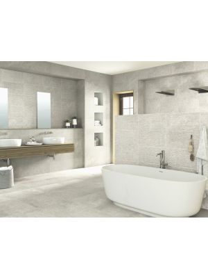 Breeze Grey Stone Effect Rectified Wall Tile