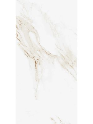 Calacatta Gold Gloss Marble Effect Porcelain Wall & Floor Tile