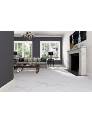 Calacatta Gold Matt Marble Effect Porcelain Wall & Floor Tile