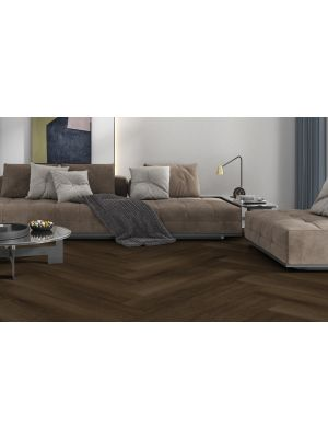 Caoba Dark Wood Effect Porcelain Tile