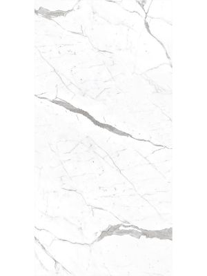 White Polished Marble Effect Rectified Porcelain Tile 1200 x 600mm