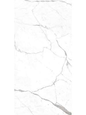 Polished White Marble Effect Rectified Porcelain Tile 300 x 600mm