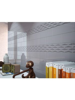 Metro Chic Structured Grey Tile 300x100