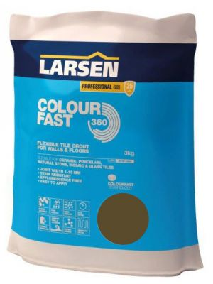 Colour Fast 360 Flexible Wall & Floor Grout Walnut 3kg