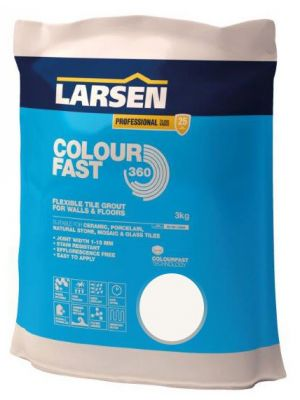 Colour Fast 360 Flexible Wall & Floor Grout White 3kg
