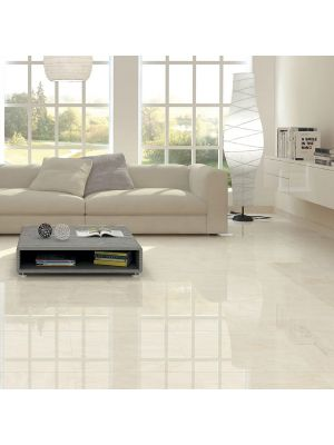 Cristallo Cream Polished Porcelain Tile 800x800