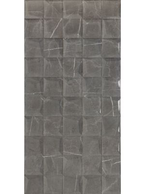Dallas Dark Grey Marble Mosaic Effect Feature Tile
