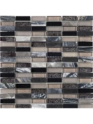 Decadent Brick | Mixed Metal Glass Stone Mosaic